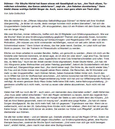 18062014 Artikel in Westfälischen Nachrichten